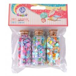 Sypké konfety v sklenených dózičkách SUNNY DAY, 3 x 10g, 335121006