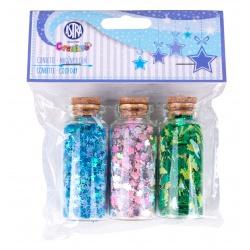 Sypké konfety v sklenených dózičkách COLD DAY, 3 x 10g, 335121007