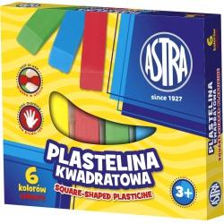 ASTRA Plastelína hranatá 6 farieb, 83811908