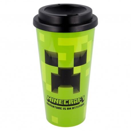 Plastový termo pohár s vrchnákom MINECRAFT 520ml, 02189