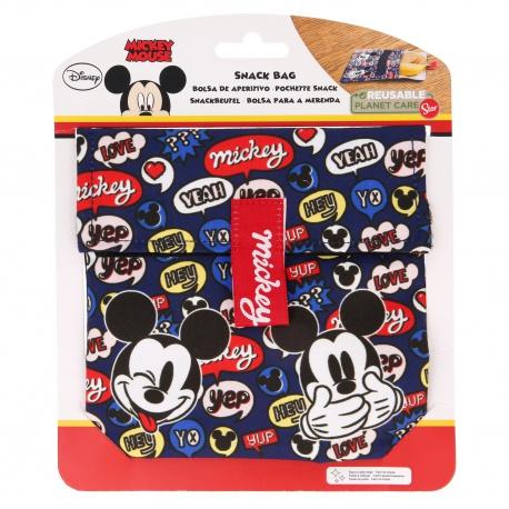 Textilné desiatové vrecúško MICKEY MOUSE Snack, 41005