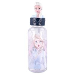 Plastová 3D fľaša s figúrkou DISNEY FROZEN, 560ml, 10104