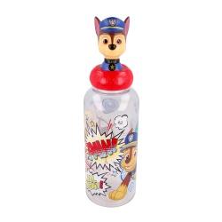 Plastová 3D fľaša s figúrkou PAW PATROL, 560ml, 10125