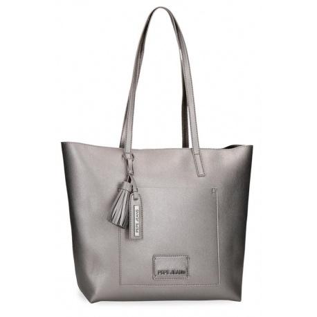 Dámska kabelka 2v1 PEPE JEANS® CIRA Plata / Tmavostrieborná, 7597522