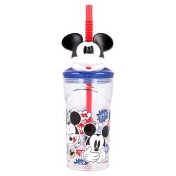 Plastový 3D pohár s figúrkou MICKEY MOUSE, 360ml, 50166