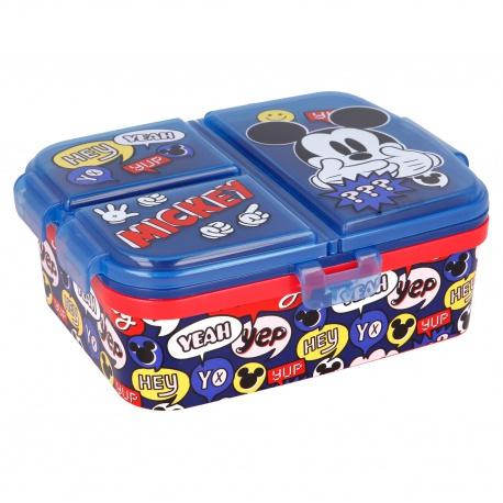 Delený plastový box na desiatu XL, MICKEY MOUSE, 50199
