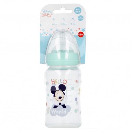 Dojčenská fľaša MICKEY MOUSE, 0+, 240ml, 13002