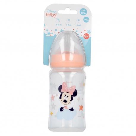 Dojčenská fľaša MINNIE MOUSE, 0+, 240ml, 13102