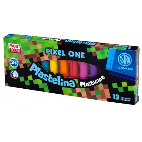 Školská plastelína 12 farieb MINECRAFT Pixel One, 303221005