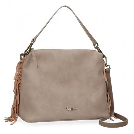 Dámska kabelka PEPE JEANS® FRINGE Brown / Piesková, 7767161