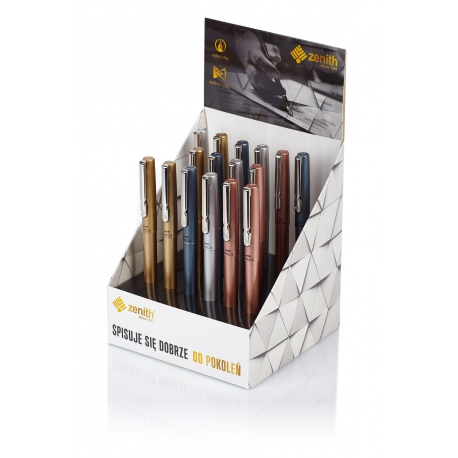 ZENITH Omega, Luxusné plniace pero + 1 náplň, mix farieb, stojan, 10531620
