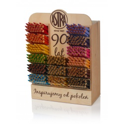 ASTRA Drevený stojan s farbičkami JUMBO 360ks/15 farieb, 312118005