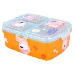 Delený plastový box na desiatu XL, PEPPA PIG, 41299