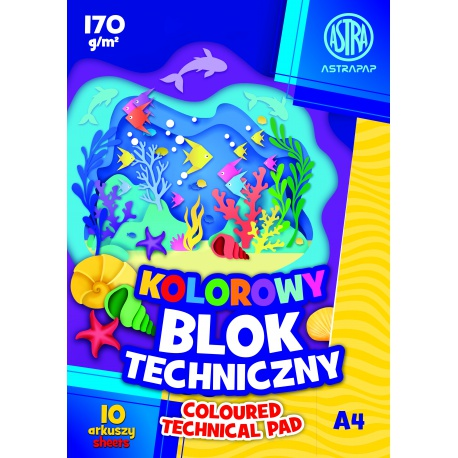 ASTRA farebné papiere  A4, 10 listov, 170g/m2, mix motívov, 106021007