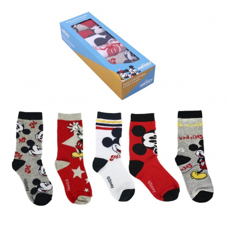 Štýlové ponožky MICKEY MOUSE v darčekovej krabičke, Sada 5ks, veľkosť 23-25, 2200007414