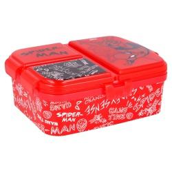 Delený plastový box na desiatu XL, SPIDERMAN, 51399