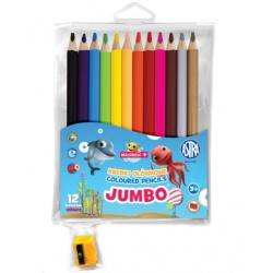 MINI-MINI  Školské  farbičky JUMBO 12ks + strúhadlo, 312221009