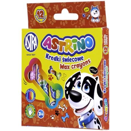 ASTRINO Detské voskové farbičky, sada 12ks, 316121003