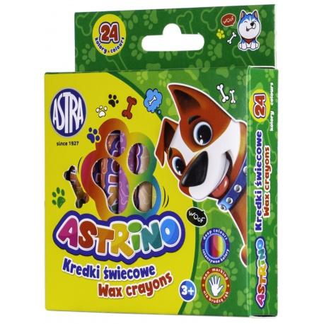 ASTRINO Detské voskové farbičky, sada 24ks, 316121004