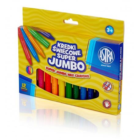 ASTRA Voskové farbičky  Super Jumbo 12ks, 316118003