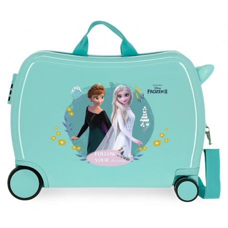 Detský cestovný kufor na kolieskach / odrážadlo DISNEY FROZEN Dream, 34L, 4449821