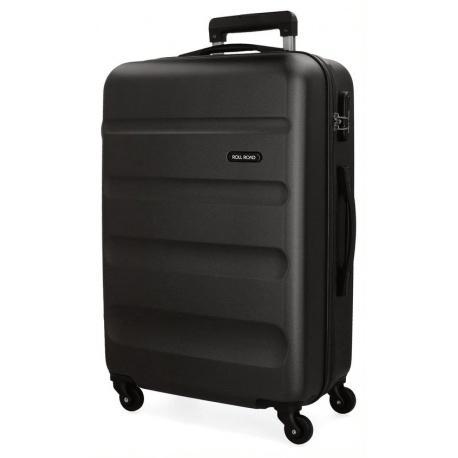 ABS Cestovný kufor ROLL ROAD FLEX Black / Čierny, 75x52x28cm, 91L, 5849360 (large)