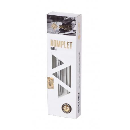 ZENITH Silver, Luxusná sada / Guľôčkové pero 0,8mm + Plniace pero, krabička, 7020200