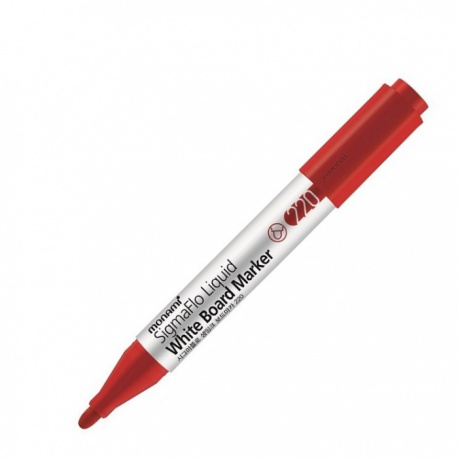 MONAMI® Popisovač na biele tabule SigmaFlo 220, 2mm, Červený, 2080151515