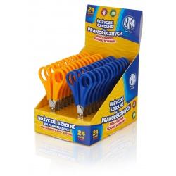 ASTRA Školské nožnice pre pravákov 13cm, mix farieb, stojan, 407118002