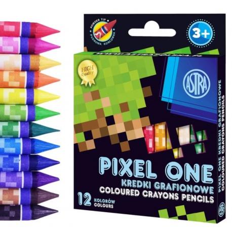 Detské grafitové farbičky bez dreva MINECRAFT Pixel One, sada 12ks, 316121007