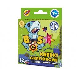 Detské grafitové farbičky bez dreva BRAWL STARS, sada 12ks, 316121008