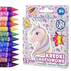 Detské grafitové farbičky bez dreva UNICORN, sada 12ks, 316121009