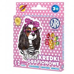 Detské grafitové farbičky bez dreva SWEET DOGS, sada 12ks, 316121010