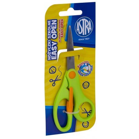 ASTRA Školské ergonomické nožnice s odpružením, 13cm, blister, mix farieb, 407120002
