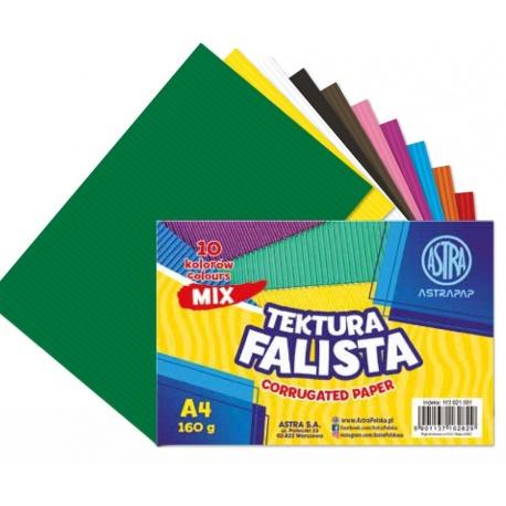 ASTRAPAP Papier vlnitý obojstranný, A4, 10 ks, mix farieb, 113021001
