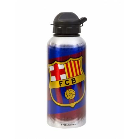 ALU fľaša na pitie FC BARCELONA Bandera, 400ml