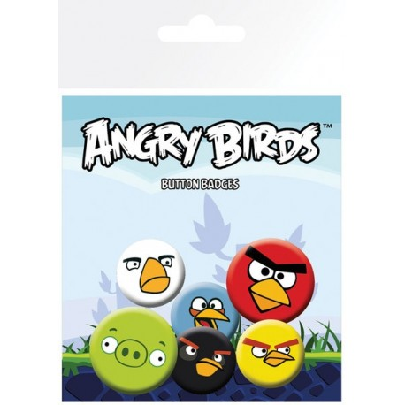 Fan odznaky 6ks ANGRY BIRDS, BP0378 GB EYE ANG2990