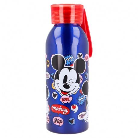 Hliníková fľaša so silikónovým pútkom MICKEY MOUSE, 510ml, 50124