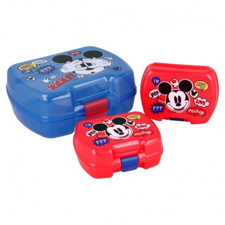 Plastový box na desiatu + 2 mini boxy MICKEY MOUSE Premium, 50129