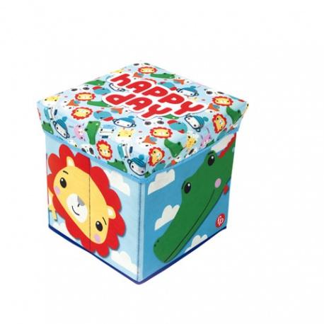 FISHER-PRICE® Úložný box s vrchnákom / taburetka  2v1, HAPPY DAY, FP10300