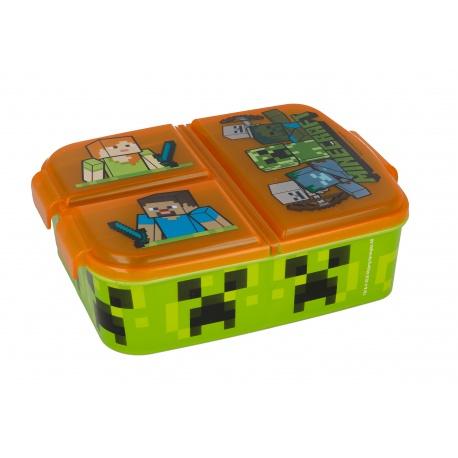 Delený plastový box na desiatu MINECRAFT, 40420