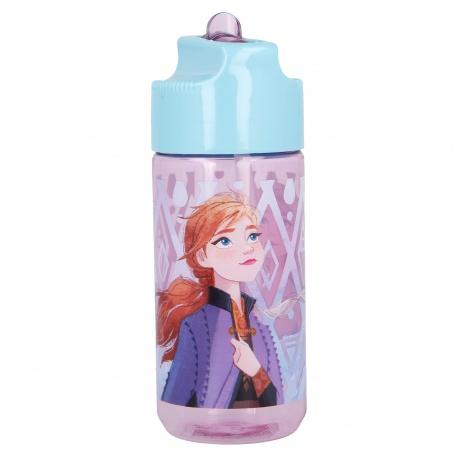 Plastová fľaša s výsuvnou slamkou DISNEY FROZEN, Tritan 430ml, 51036