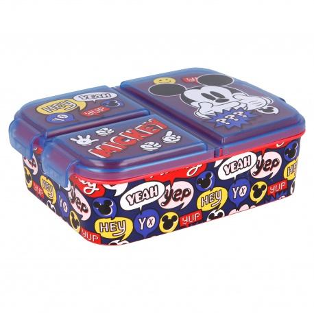 Delený plastový box na desiatu MICKEY MOUSE, 50120