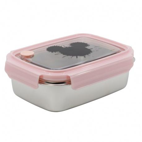 Nerezová dóza / krabička na jedlo MICKEY MOUSE Pink Hermetico, 1020ml, 03930