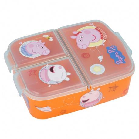Delený plastový box na desiatu PEPPA PIG, 13920