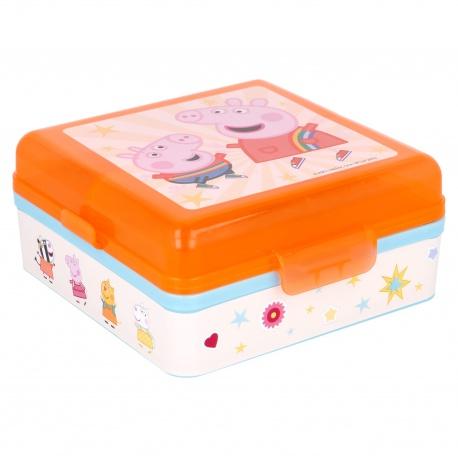 Delený plastový box na desiatu PEPPA PIG, 41293