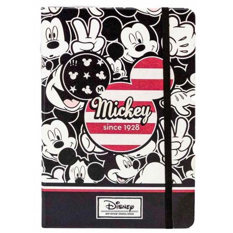 Štýlový zápisník MICKEY MOUSE, tvrdá väzba, 100 strán, 01787