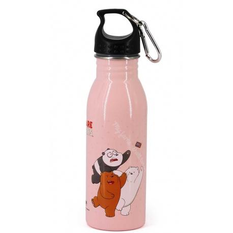 ALU fľaša s karabínou WE BARE BEARS, 500ml, 32696