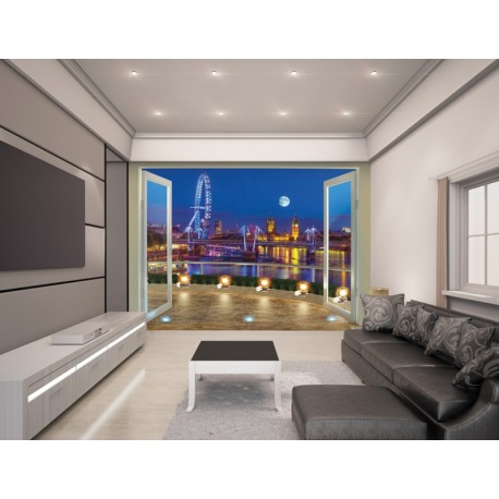 WALLTASTIC®  Fototapeta 243 x 304cm LONDON EYE WALLTASTIC® WAL2995