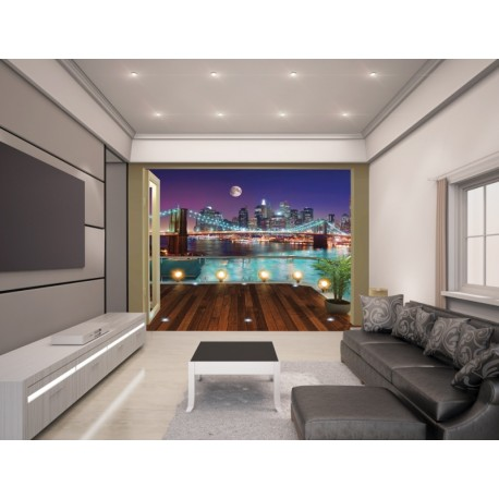 WALLTASTIC®  Fototapeta 243 x 304cm BROOKLYN Bridge WALLTASTIC® WAL2992
